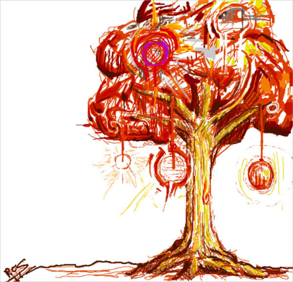 Drawn triipy scenery Ideas Tree Free Drawing Drawing