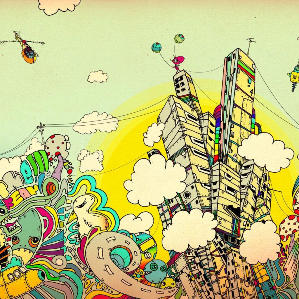 Drawn triipy scenery Background city wallpaper Original size