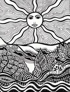 Drawn triipy scenery On And  Psychedelic Pinterest