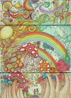 Drawn triipy scenery Scenery Guru Settings Deva psychedelic