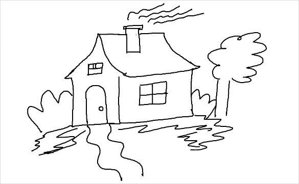 Drawn triipy scenery Simple  PDF includes a