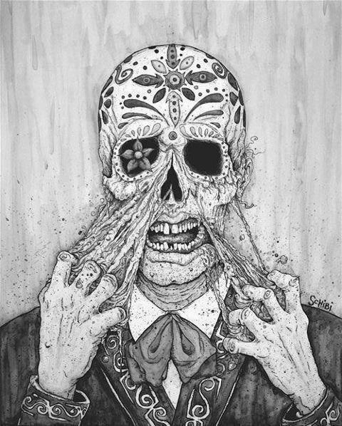 Drawn triipy skeleton On trippy man trippy 210