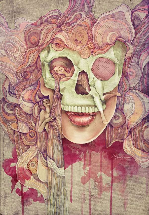 Drawn triipy skeleton Pinterest images Psychedelic Drawing best