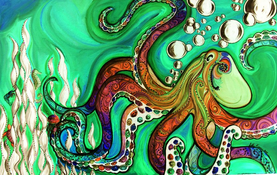 Drawn triipy squid Trippy Gallery Octopus Octopus of