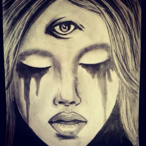 Drawn triipy third eye To Another to The third
