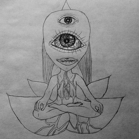 Drawn triipy third eye Me and (@lotusrose art) lotus