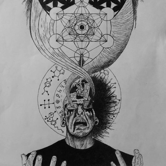 Drawn triipy third eye #drawing eyes #art #traditional art