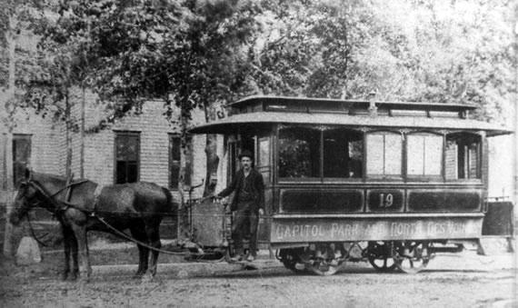 Drawn trolley » Photo Iowa « Trolley