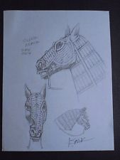 Drawn trolley camel SAVIUK trolley Signed HORSE Hand