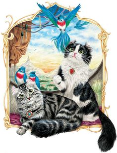 Drawn trolley cat Art IllustrationsCat Persian Art ArtDrawing