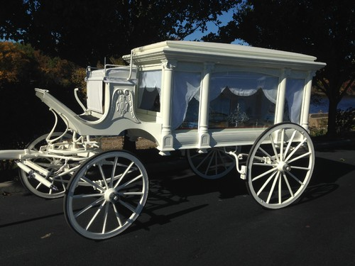 Drawn trolley double horse Funeral Philadelphia Carriage Horse Drawn
