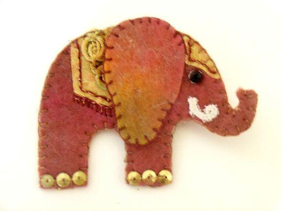 Drawn trolley elephant  Felt elephant Elephant 25+
