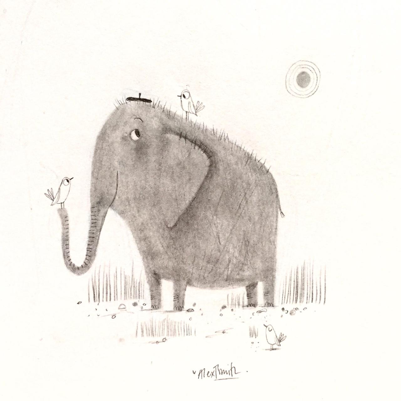 Drawn trolley elephant SKETCHBOOK: Happy favourite Elephant Happy