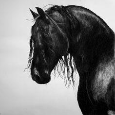 Drawn trolley friesian horse FINISHED Fashion Carriage Black Death