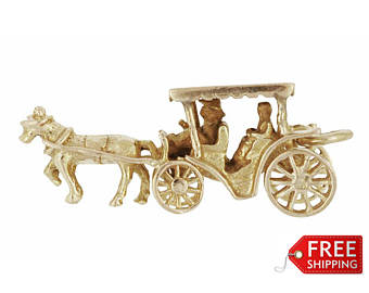 Drawn trolley gold horse Gold carriage Etsy Solid Nassau