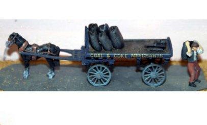 Drawn trolley model horse Drawn Coal Horse Motorcycles Cart