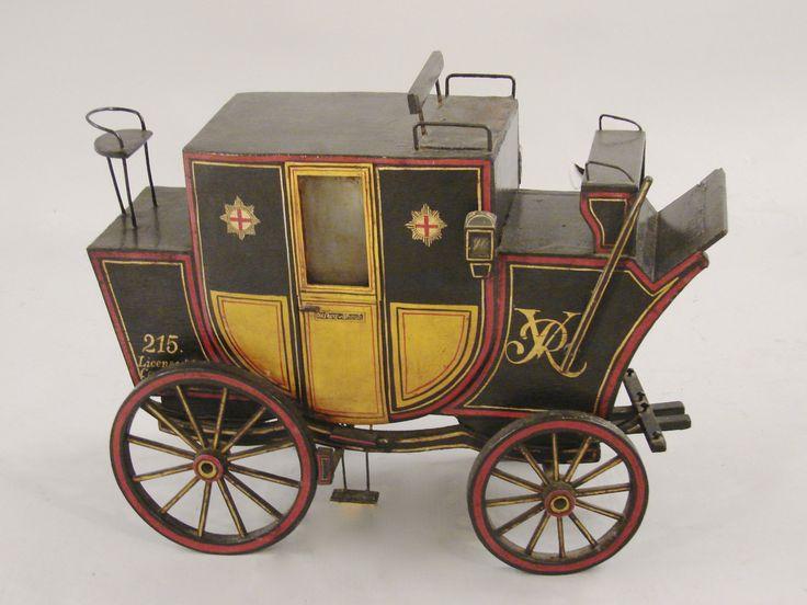 Drawn trolley model horse 3 A 1880 Coaches Horse