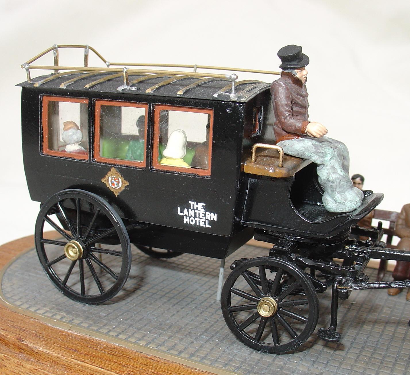 Drawn trolley model horse Drawn Station/Hotel Bus Models Horse