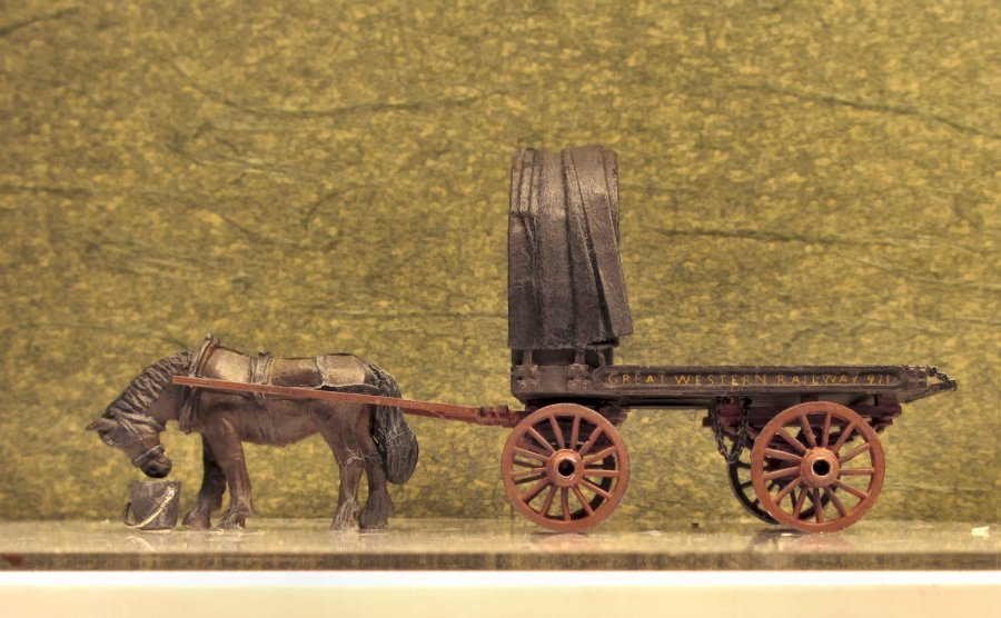 Drawn trolley model horse Another horse a GWR's in