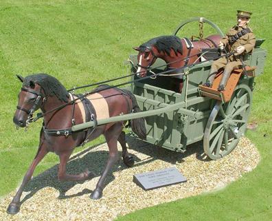 Drawn trolley model horse Veterinary Corps Mark Ambulance Royal