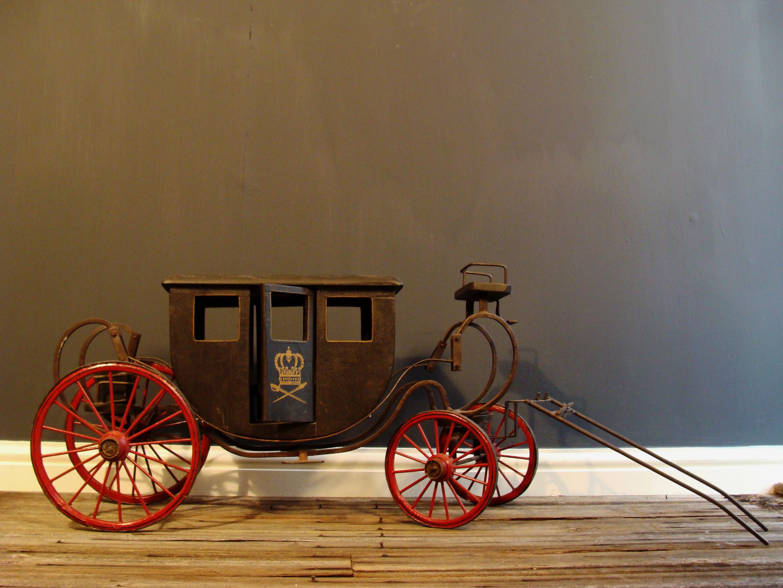 Drawn trolley model horse Model of Horse  century