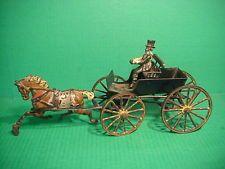 Drawn trolley toy horse PRATT TOY Original Iron HORSE
