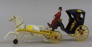 Drawn trolley toy horse Iron Lots Skinner Carriage Horse