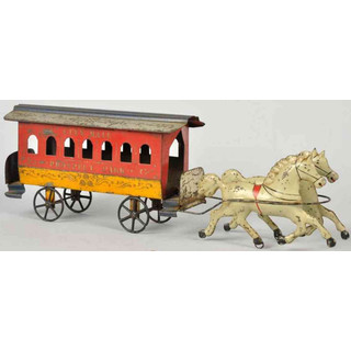Drawn trolley toy horse Carriages horses DATABASE TOYS horse