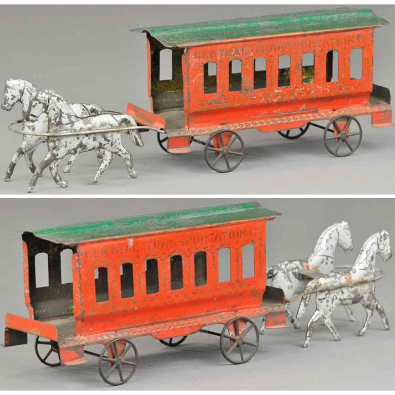 Drawn trolley toy horse FOR OLD DATABASE  TOYS
