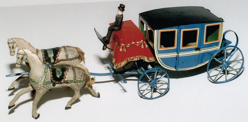 Drawn trolley toy horse 1880 Drawn Antique Magazine Carriage