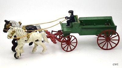 Drawn trolley toy horse Iron Iron Toy Work Drawn