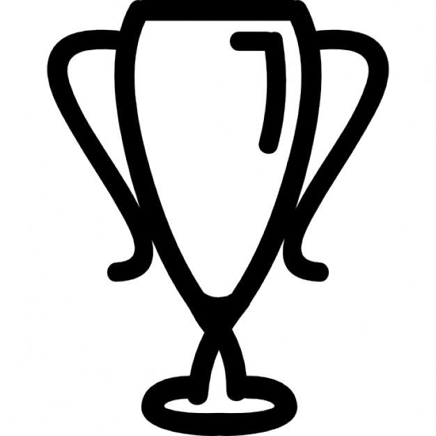 Drawn trophy Sportive Trophy hand Icon Icons