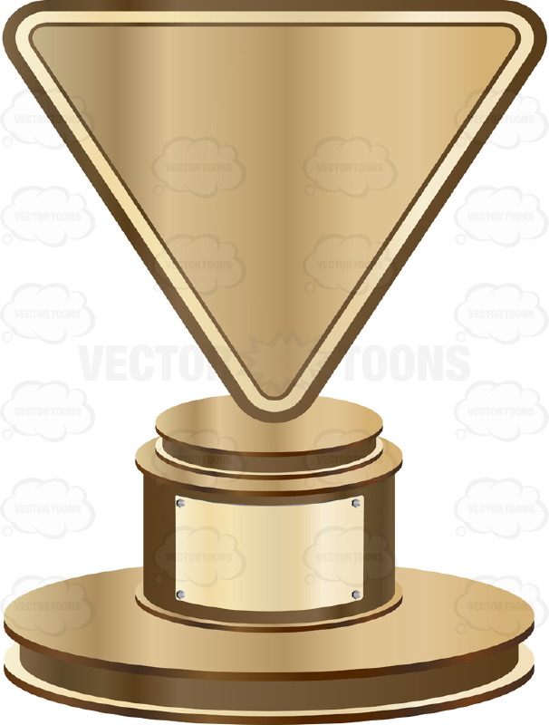 Trophy clipart bronze trophy Bronze Triangle Gold Inscription With