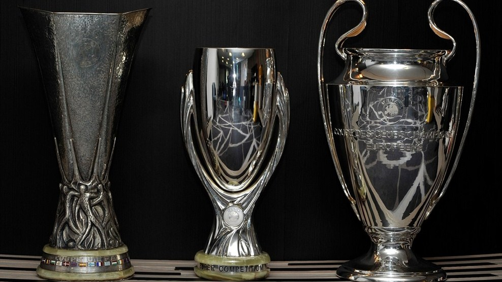Drawn trophy For The (UEFA draw) football