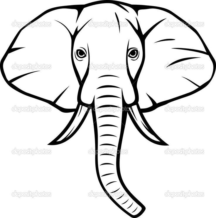 Drawn head indian elephant > Pinterest ideas Drawings Head