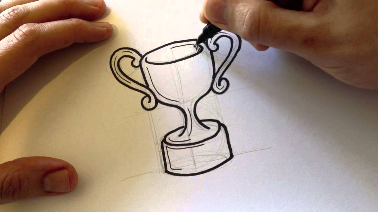 Drawn trophy A estilo a Troféu Trophy