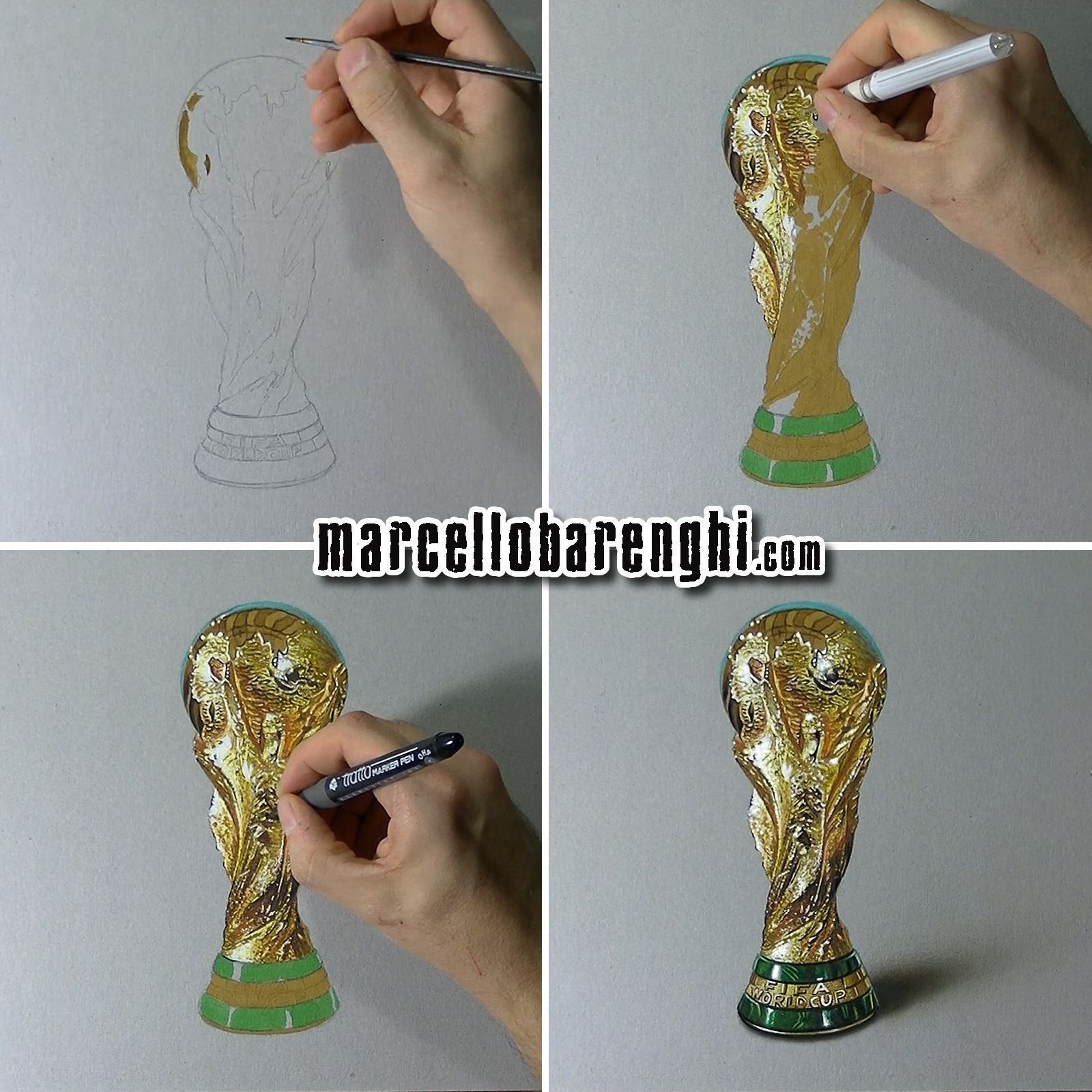 Drawn trophy FIFA phases Barenghi: drawing Cup