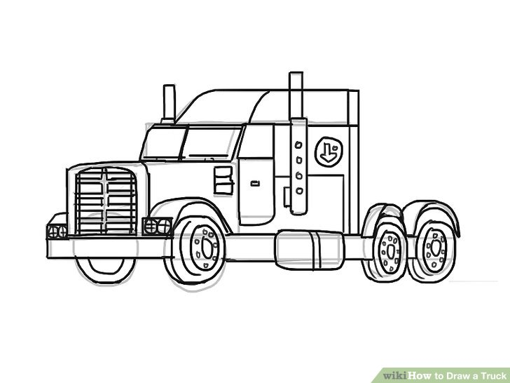 Drawn truck Draw Step titled Truck to