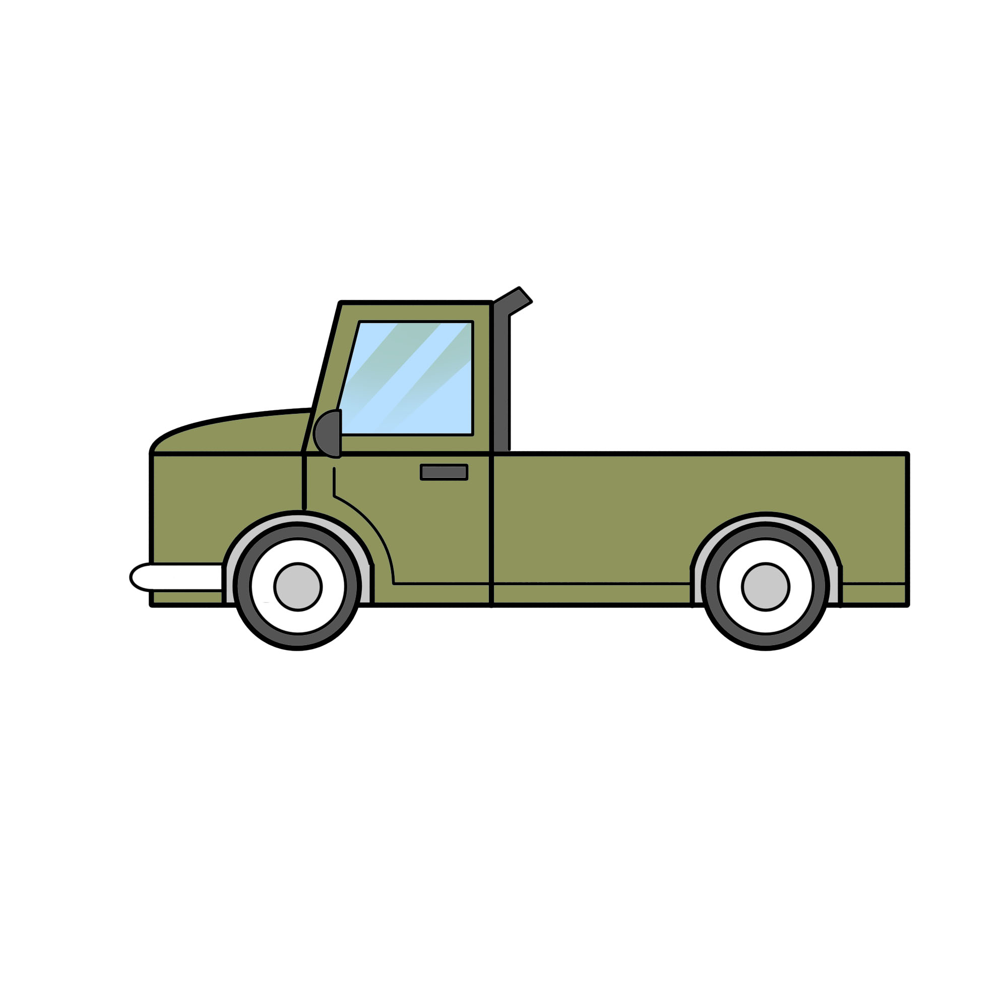 Drawn truck Easy Draw 2 to wikiHow