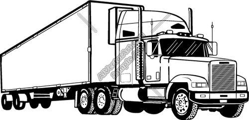 Drawn truck Drawings and truck Semi Clipart