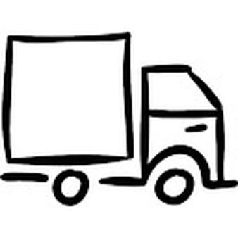 Drawn truck Drawn Truck hand vehicle Icons