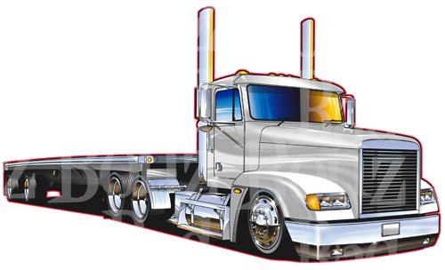 Drawn truck 18 wheeler Clipart Kid Freightliner 18 Semi