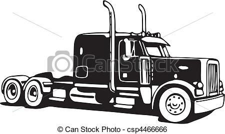 Drawn truck 18 wheeler Drawings Drawing Illustration drawings drawings