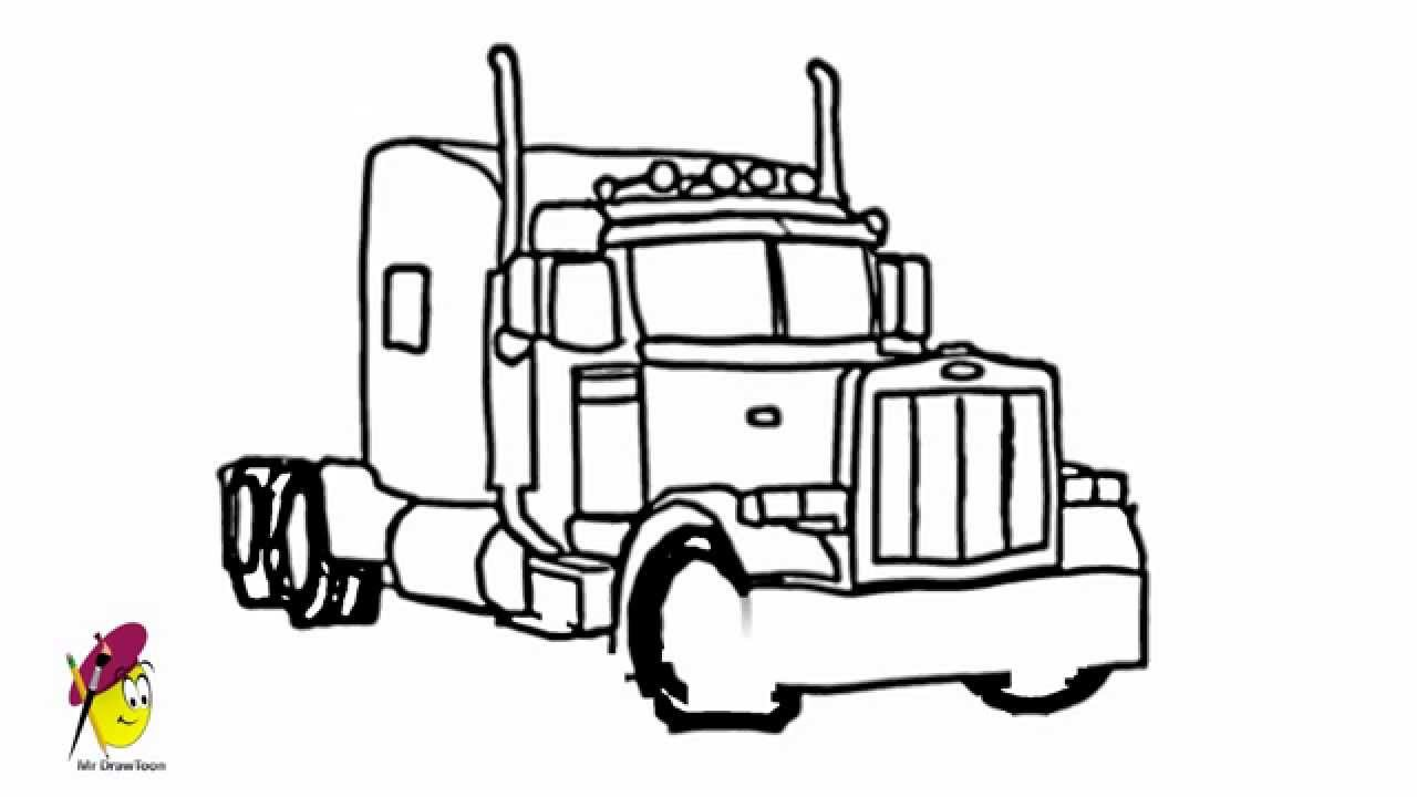 Drawn truck 18 wheeler How Truck Cool Cool and