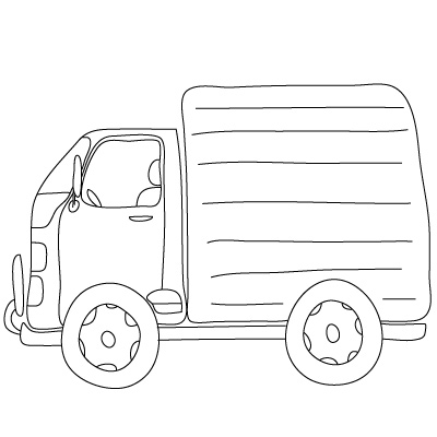 Drawn vehicle truck Lessons to Adults & Drawing