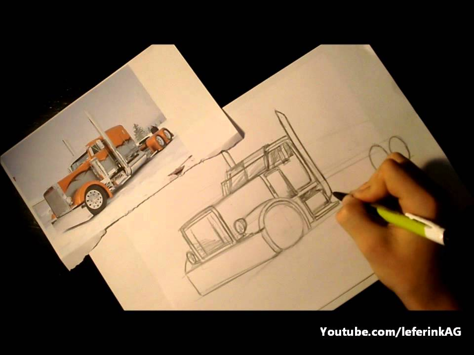 Drawn truck american truck American to How 3D! draw
