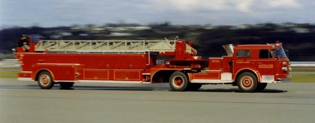 Drawn truck american truck Tractor 1960 1960 Truck Fire