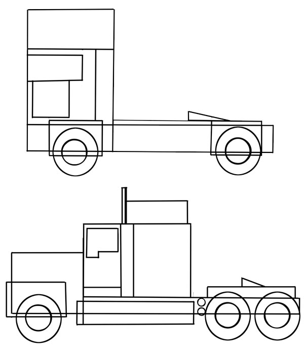 Drawn truck american truck European How See American to