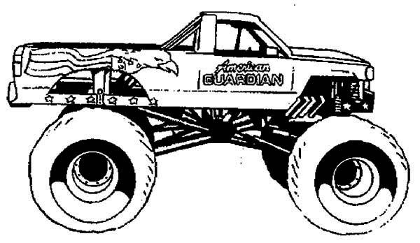 Drawn truck american truck Monster American  Trucks 2