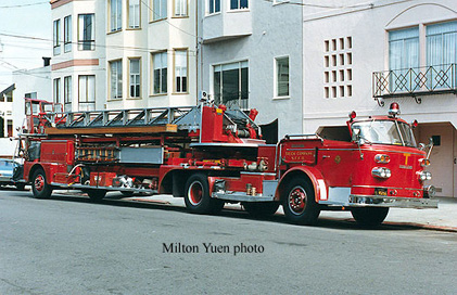Drawn truck american truck 100ft ladder reserve American Continental